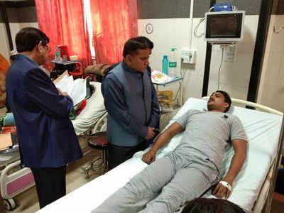 सिपाही के देखने अस्पताल पहुंचे डीजीपी