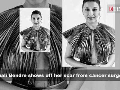 कैंसर से जीत के बाद सोनाली बेंद्रे का पहला फोटोशूट, दिखा सर्जरी का निशान