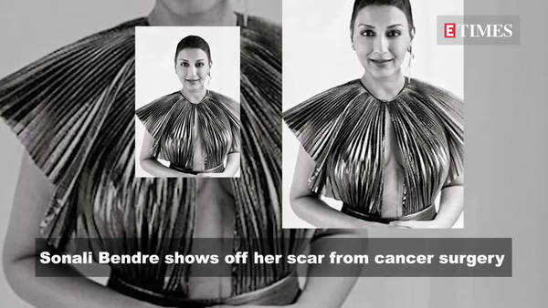 sonali bendre shows off her scar from cancer surgery