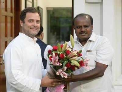 राहुल गांधी और एचडी कुमारस्वामी (फाइल फोटो)