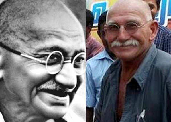 महात्मा गांधी के हमशक्ल...