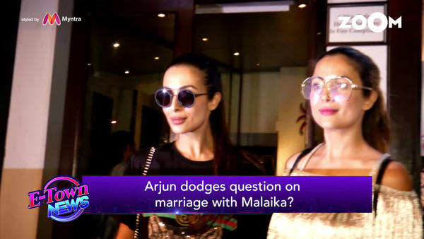 arjun kapoor ignores question about his relationship with malaika arora