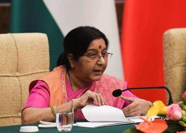 विदेश मंत्री सुषमा स्वराज।