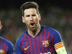 champions league barcelona in quarter finals messi scored two goals