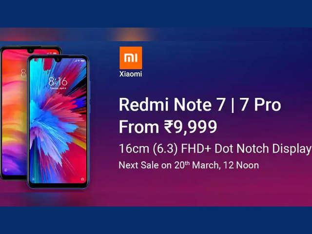 20 मार्च को Redmi Note 7 Pro, Redmi Note 7 की अगली सेल, जानें लॉन्च ऑफर्स