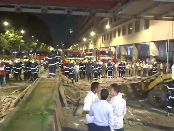 mumbai several feared dead as foot overbridge collapses near cst railway station
