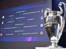 champions league draw manchester city face spurs manchester united lock horns with barcelona in quarter finals