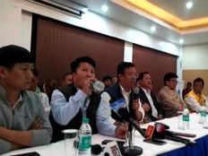 arunachal big blow to bjp before assembly elections 8 ministers and mlas join npp