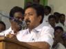 aiadmk minister c v shanmugam criticises dmk in villupuram