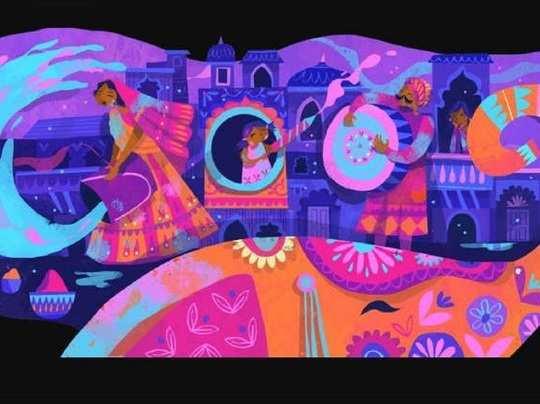Holi 2019: Google Celebrates Holi With Colourful Doodle