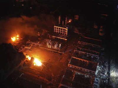 फैक्ट्री में लगी भयानक आग