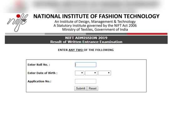 NIFT RESULT 2019