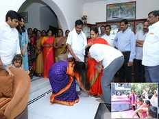 kalvakuntla kavitha files nomination from nizamabad after taking in laws blessings