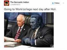 employee go to office next next to holi festival holi jokes