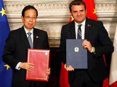 चीन और इटली ने मेमोरेंडम पर हस्ताक्षर किए