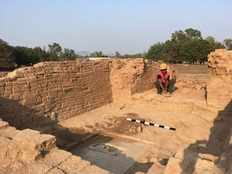 foreigner in skull cap shows up in 6th century temple in madhya pradesh