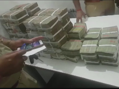 police seized cash from a vehicle during checking in bulandshahar