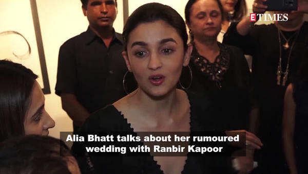 watch what actress alia bhatt said about her wedding rumours with ranbir kapoor