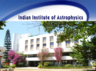 indian institute of astrophysics has invited applications for admission into m tech and ph d programmes