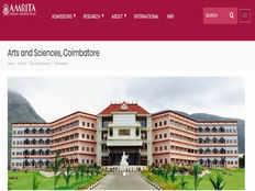 amrita school of arts and sciences coimbatore invites applications for admission into various courses
