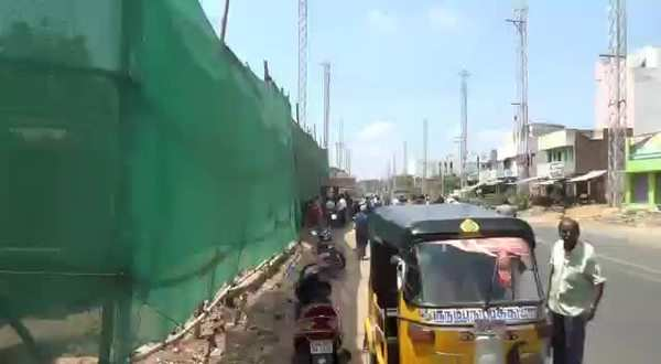 the 350 tonne manthaiamman temple at narayanapuram in madurai is being shifted 25 feet away for the madurai natham highway flyover work