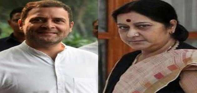 सुषमा स्वराज ने राहुल गांधी को भाषा की मर्यादा रखने की दी नसीहत
