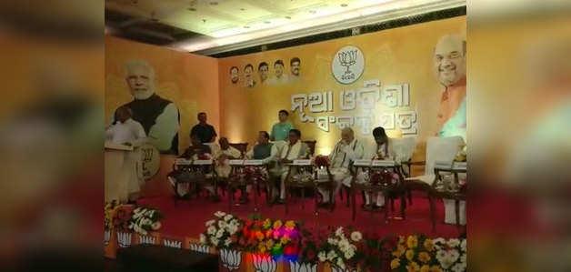 बीजेपी ने ओडिशा विधानसभा चुनाव के लिए संकल्प-पत्र जारी किया