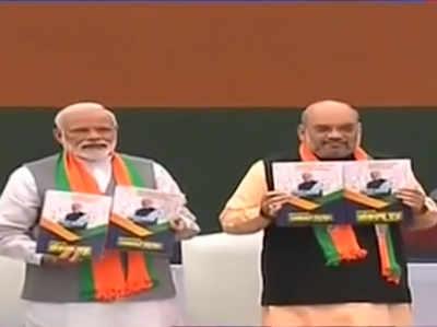 LS Polls 2019: BJP ने जारी किया चुनावी घोषणापत्र 'संकल्प पत्र'