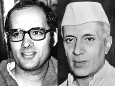 संजय गांधी और जवाहर लाल नेहरू (फाइल फोटो)