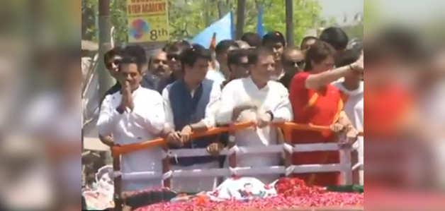 अमेठी: राहुल गांधी ने रोड शो के बाद भरा पर्चा