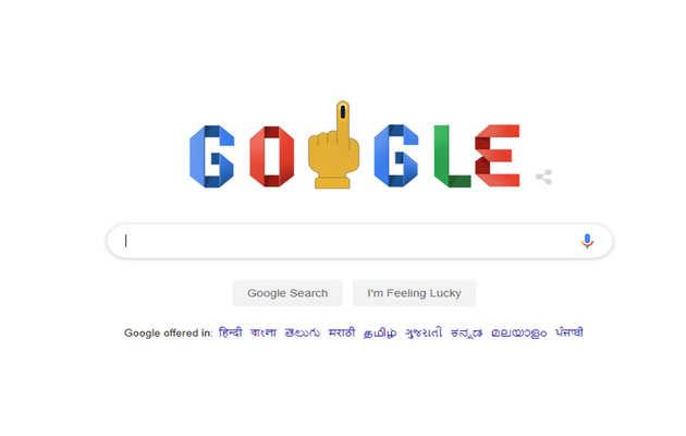 भारत में लोकसभा चुनाव शुरू,Google ने समर्पित किया Doodle