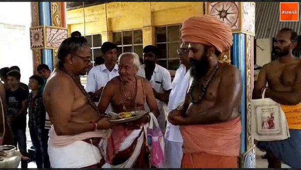 tirupanandal aruna jadewswarar temple chithirai festival kodi yetram begins