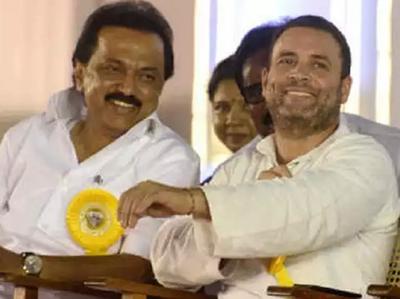 स्टालिन के साथ राहुल गांधी (फाइल फोटो)