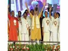pc george attacks ldf and udf in modis kozhikode event