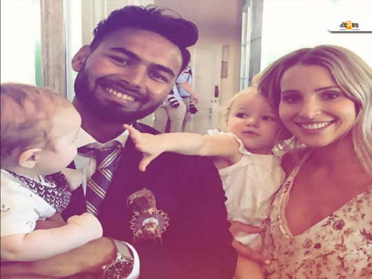 rishabh pant agreed for viral baby-sitter photograph with his family.
