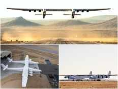 worlds biggest plane makes first flight over calofornia can fly to space