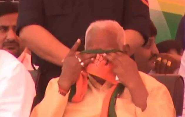लोकसभा चुनाव 2019: बीजेपी की रैली में फूट-फूटकर रोये पूर्व विधायक रामरतन