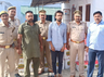 five hundred cartons of foreign liquor seized by bulandshahr police from a truck