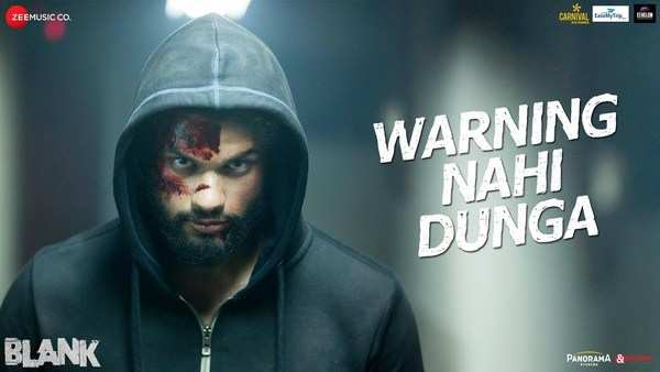 sunny deol karan kapadia ishita starrer blank movie first song warning nahi dunga
