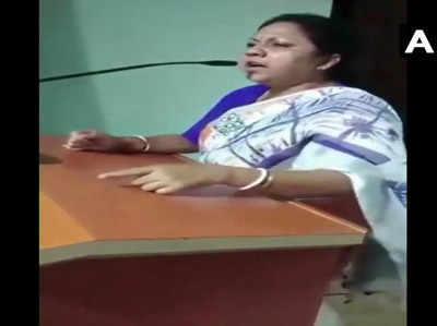 टीएमसी विधायक रत्ना घोष के बिगड़े बोल