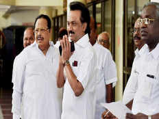 dmk leader mk stalin comments on it raids in opposition leaders house