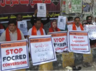 protests over kidnapping forced conversion of hindu girl in pak