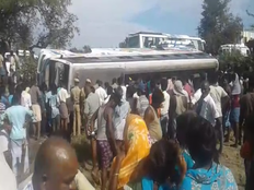 one person died and several injured in thanjai bus accident