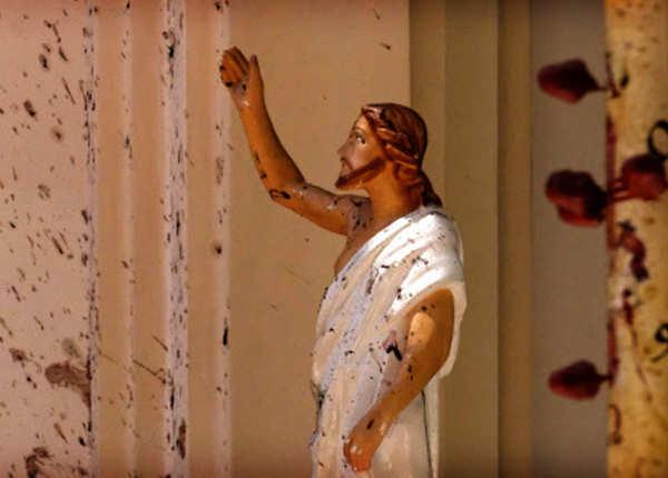 खून से लथपथ ईसा मसीह की मूर्ति
