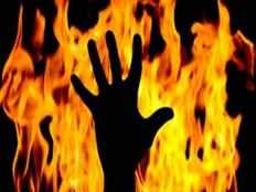 man set mother on fire kills and buried her near home in ernakulam