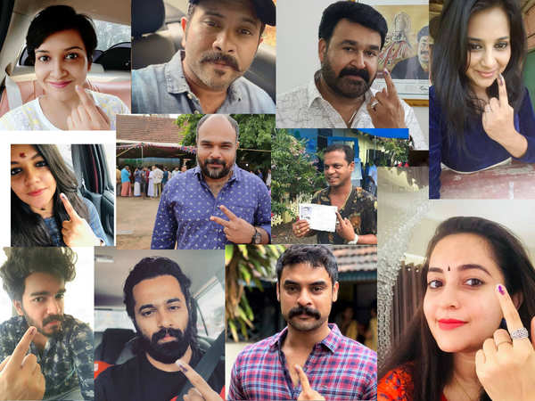 watch video malayalam film stars cast their votes for kerala lok sabha elections 2019