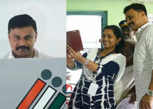 actor dileep cast his vote at karumalloor