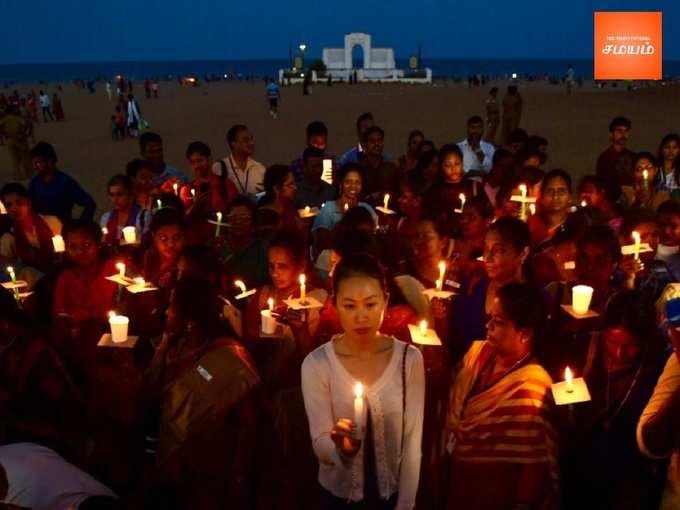 இலங்கை மக்களுக்கு பெசன்ட் நகரில் பிரார்த்தனை!