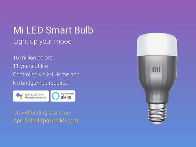 शाओमी का दावा, 11 साल चलेगा Mi LED स्मार्ट बल्ब; Mi Home ऐप से होगा कंट्रोल