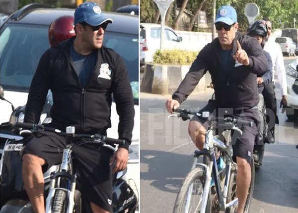 मुंबई की सड़कों पर सलमान ने की साइकलिंग, कैमरा देख भड़के
